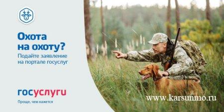 Теперь подать заявление на получение охотничьего билета можно в электронном виде