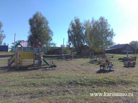 Новая детская площадка в с. Сосновка