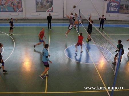 Соревнования по волейболу за кубок Карсунского района среди мужских команд