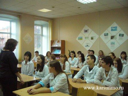 Урок избирательного права в Карсунском медицинском техникуме