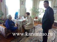 В Карсунском районе поздравили ветеранов Великой Отечественной войны на дому