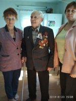 В Карсунском районе поздравили участника Курской битвы