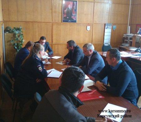 Заседание Межведомственной комиссии по противодействию незаконным рубкам и нелегальному обороту древесины на территории МО «Карсунский район».