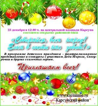 Торжественное открытие главной новогодней ёлки района