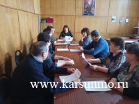 Заседание территориальной избирательной комиссии муниципального образования «Карсунский район»