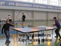 Районный турнир по настольному теннису, посвященный Дню защитника Отечества