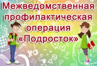 Межведомственная профилактическая операции «Подросток - 2019»
