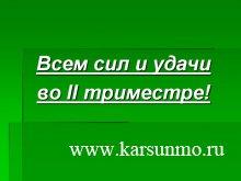 Для школьников Карсунского района 23 ноября начался II триместр