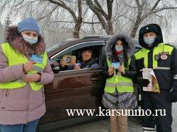 Акция «Мы - граждане России, мы за безопасность на дорогах!»